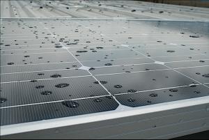 Solar Rain on Panel